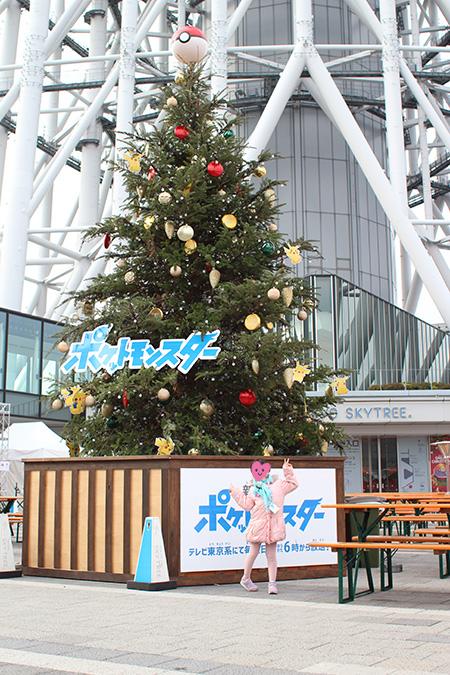 スカイツリーのポケモンクリスマスツリー