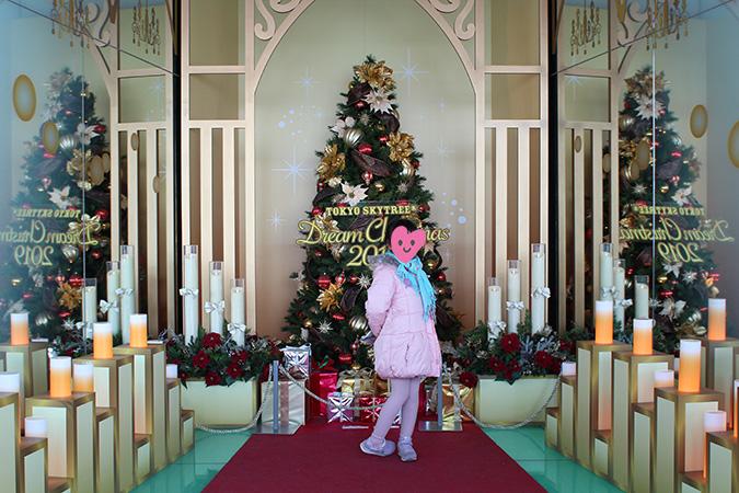 スカイツリー天望回廊ソラカラポイントクリスマス